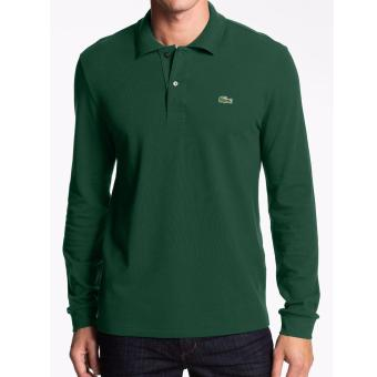 LACOSTE CLASSIC LONGSLEEVES FOR MEN (MOSS GREEN) Price Philippines