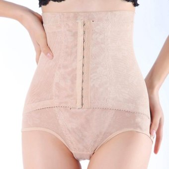 Harga High Waist Hip up Corset Panties Breathable Slimming Body Shaper Apricot
