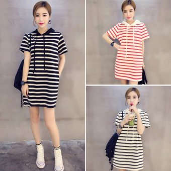 Women summer striped casual dress - intl Price Philippines
