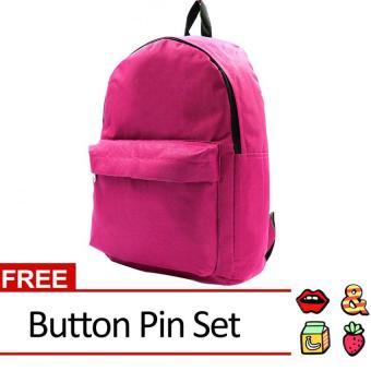Harga Urban Hikers David Casual Daypack Backpack with Button Pin (Fuchsia)