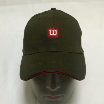 Wilson Logo 100% Cotton Fabric Baseball Cap (Moss Green) Price Philippines