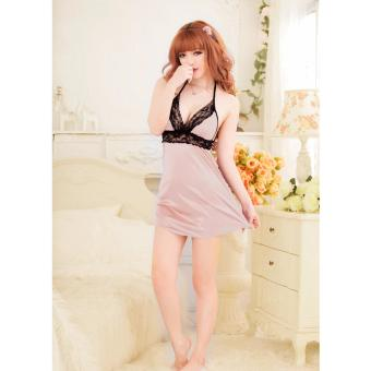 Harga Skadi Hot Girl B-405 Women Girlfriend Wife Sweet Romantic Sexy Lady Lingerie Baby Doll Dress See-through Lace Sleepwear Night Gown Wedding Birthday Best Gift (Skinton)FREE Mini Make Up Mirror