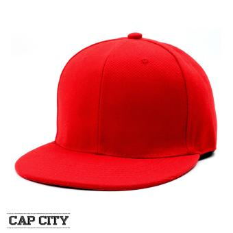 Harga Cap City Unisex Snapback Pure Cap (Red)