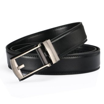 Leather false acupuncture belt automatic buckle belt Comfort Click Belt men's belt - intl Price Philippines
