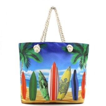 Harga London Fashion Summer Surf Board Beach Tote Bag