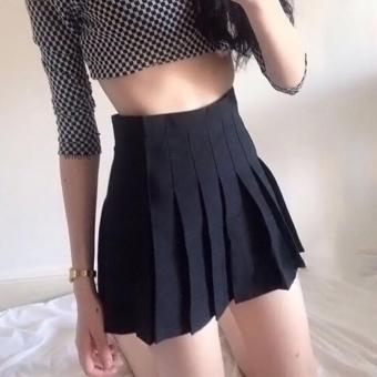 Jo.In Sexy Women's High Waisted Solid Pleated Mini Tennis Skater Skirt - intl Price Philippines