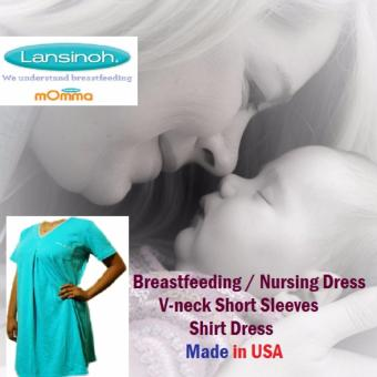 Lansinoh Maternity Nursing Breastfeeding Dress Plus Size Everyday Shirt Dress Made in USA Price Philippines