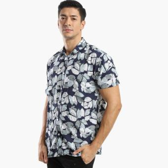 Coco Republic Mens Tropical Casual Shirt (Navy) Price Philippines