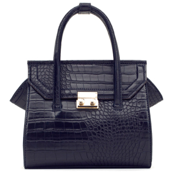 Harga Zara Mini Embossed Print City Bag (Dark)