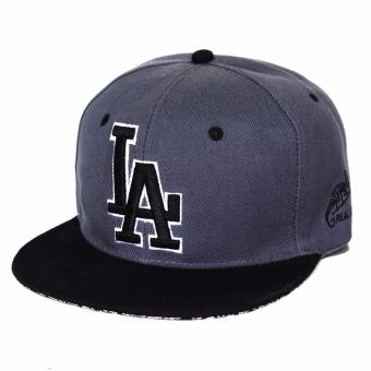 Harga Cap City Hip-hop Snapback LA Los Angeles (Gray/Black)