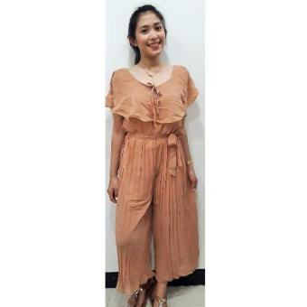 Harga Dion and Mary Mikee Jumpsuit (Light brown)