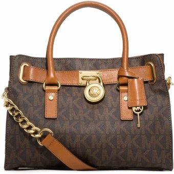 Michael Kors Hamilton MK Logo Satchel Bag (Brown) Price Philippines