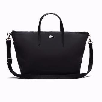 Lacoste L.12.12 Concept Nylon Zippered Tote Bag - Horizontal (Black) Price Philippines