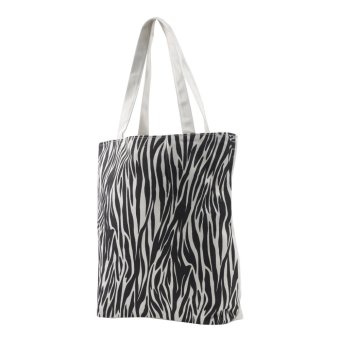 Harga London Fashion Animal Print Tote Bag (White)