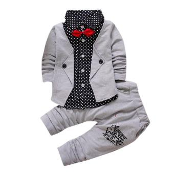 Kid Baby Boy Gentry Clothes Set Formal Party Christening Wedding Tuxedo Bow Suit - intl Price Philippines