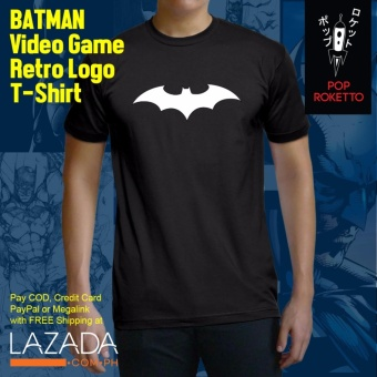 Pop Roketto Batman Video Game Retro Male T-Shirt (Black) Price Philippines