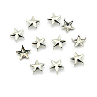 eMylo 100pcs 12mm Star DIY Metal Studs 5 Prongs Spots Nailheads Spikes for Bag Shoes Jeans Bracelet (Sliver) Price Philippines