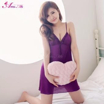 Anna Mu Lingerie Set Babydoll Romantic Sleepwear Sweet Polly Violet Price Philippines