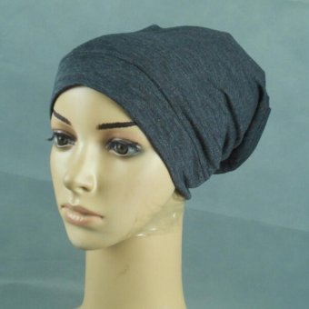 LALANG Islamic Bucket Hat Muslim Hijab Bonnet Caps (Charcoal) - intl Price Philippines