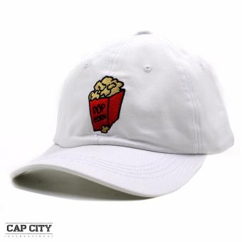 Harga Cap City Unisex Hip Hop Pop Corn Sports Cap (White)
