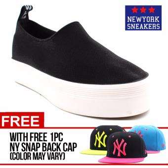 Harga New York Sneakers Gella(BLACK) with FREE NY CAP