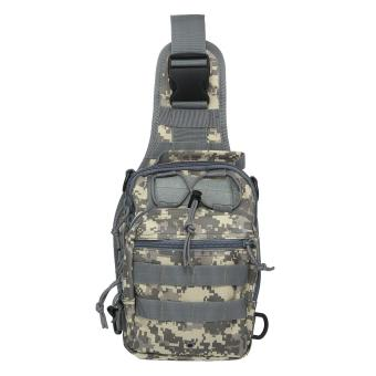 Harga niceEshop Outdoor Tactical Backpack, Canvas Shoulder Sling Backpack Chest Deployment Bags for Camping,Hiking,Trekking,Rover Sling Pack Chest Pack,ACU Camouflage - intl