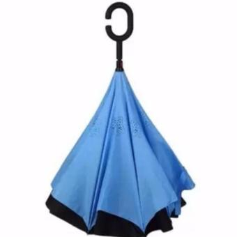 Innovative Double Layer Inverted Umbrella (blue)