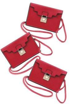 IRIS 1215 Crossbody Bag Set of 3 (Plum)
