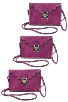 IRIS 1215 Crossbody Bag Set of 3 (Purple)