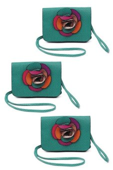 IRIS 1220 Crossbody Bag Set of 3 (Green) - picture 2