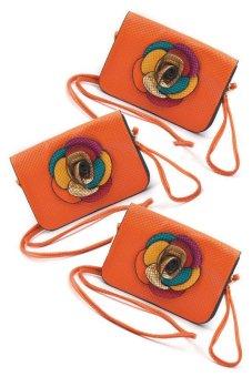 IRIS 1220 Crossbody Bag Set of 3 (Orange)