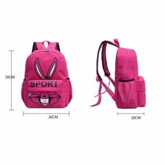 Isabel K044 Fancy Korean Backpack (Pink) - 2