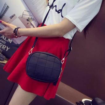 Isabel K055 Fancy Shoulder Crossbody Bag (Black) - 3
