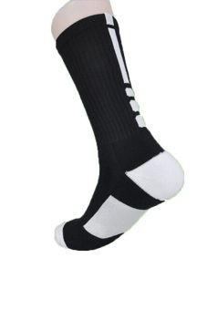 Jetting Buy Men's Sport Socks Breathable Long Running Black