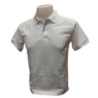 JEVANA Plain White Polo Shirt