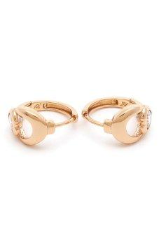 Jewelrista Heart Earrings (Gold)