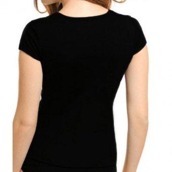 Jockey Comfies V-Neck T-Shirt (Black) - 2