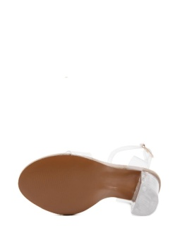 JollyChic Women's Sandals Transparent Ankle Strap Chunky Heel Shoes - intl - 5
