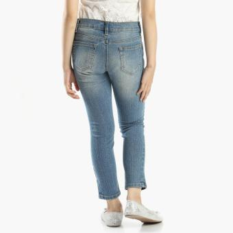 Just Jeans Girls Glittered Rose Jeans (Blue) - 2