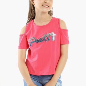 jusTees Boys Pretty Cold-shoulder Top (Pink)