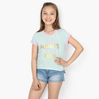 jusTees Girls I Make Mommy's Heart Happy Hi-Lo Tee (Green) Price Philippines