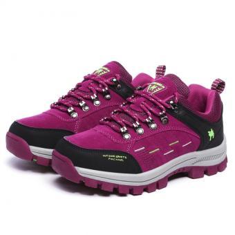 KAILIJIE Women's Suede Leather Outdoor Walking Shoes (Purple) -Intl - 5