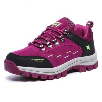 KAILIJIE Women's Suede Leather Outdoor Walking Shoes (Purple) -Intl - 2