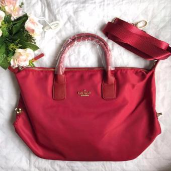 Kate-Spade New York Classic Nylon Lyla Bag (Red)