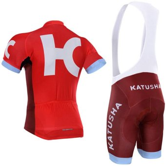 katusha Team Pro Cycling Jersey Short Sleeve Bicycle ClothingSportswear Cycling Clothing Unisex Breathable Quick Dry X17-02 -intl