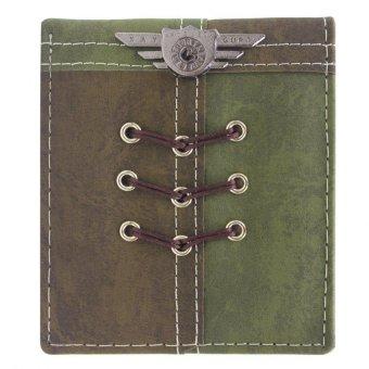 KayGurt Cross Lace Earth Tone Wallet (Neutral Green/Sap Green)