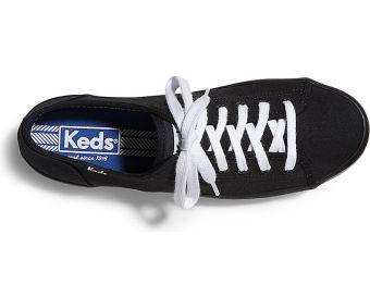 Keds Ladies Kickstart Sneakers (Black/Black) - 2