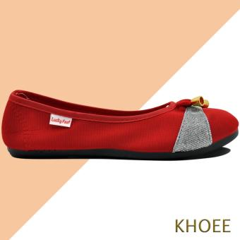 Khoee AA-017 Red Mitch Women's Doll Ballet Flat Shoes - 3