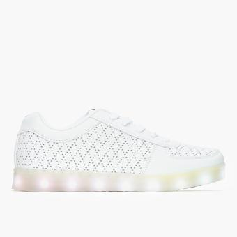 Kicks Ladies Truffle Light-Up Sneakers (White)