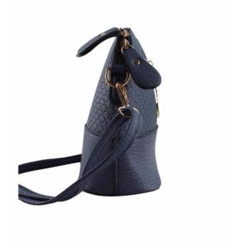 Korean Bag Leather Sling Bag Reindeer Charm Chain Blue Casual Bag Body Bag Crossbody Bag Korean Fashion Bag - 3